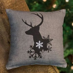 Winter Reindeer 10″ Pillow